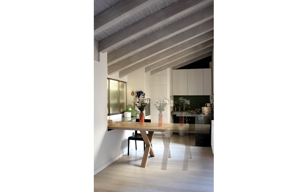 A02 ristrutturazione appartamento bologna matteo - Progetto tavolo allungabile ...